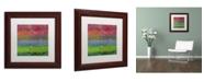 "Trademark Global Michelle Calkins 'Blue Waters' Matted Framed Art - 11"" x 11"""