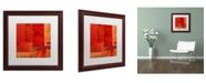 "Trademark Global Michelle Calkins 'Essence of Red' Matted Framed Art - 16"" x 16"""