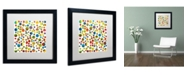 "Trademark Global Michelle Calkins 'Found My Marbles 3.0' Matted Framed Art - 16"" x 16"""
