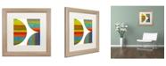 "Trademark Global Michelle Calkins 'Quarter Rounds 2.0' Matted Framed Art - 16"" x 16"""