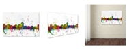 "Trademark Global Marlene Watson 'Albuquerque New Mexico Skyline Mclr-1' Canvas Art - 12"" x 19"""