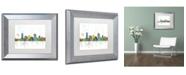 "Trademark Global Marlene Watson 'Milwaukee Wisconsin Skyline Mclr-1' Matted Framed Art - 11"" x 14"""
