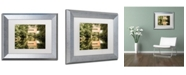 "Trademark Global PIPA Fine Art 'Wooddale Covered Bridge' Matted Framed Art - 11"" x 14"""
