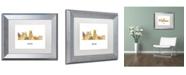 "Trademark Global Marlene Watson 'Boise Idaho Skyline WB-1' Matted Framed Art - 11"" x 14"""