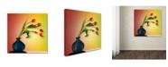 "Trademark Global Mark Ashkenazi 'Tulips 5' Canvas Art - 14"" x 14"""