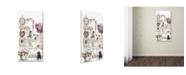 """Trademark Global The Macneil Studio 'Clock Kitten' Canvas Art - 10"""" x 19"""""""