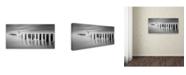 "Trademark Global Moises Levy 'Codigo Arbol F' Canvas Art - 10"" x 19"""