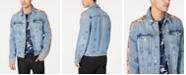 GUESS Men's Side Tape Denim Jacket