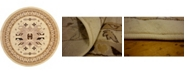 Bridgeport Home Charvi Chr1 Ivory 8' x 8' Round Area Rug