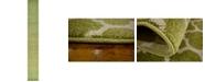 "Bridgeport Home Arbor Arb1 Light Green 2' 7"" x 19' 8"" Runner Area Rug"