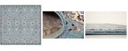 """Bridgeport Home Wisdom Wis1 Light Blue 8' 4"""" x 8' 4"""" Square Area Rug"""