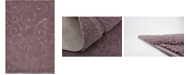 Bridgeport Home Malloway Shag Mal1 Violet 9' x 12' Area Rug