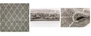 Bridgeport Home Fazil Shag Faz3 Gray 8' x 8' Square Area Rug