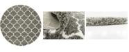 Bridgeport Home Fazil Shag Faz4 Gray 8' x 8' Round Area Rug
