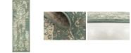 Bridgeport Home Tabert Tab1 Green 2' x 6' Runner Area Rug