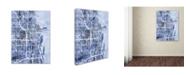 "Trademark Global Michael Tompsett 'Chicago City Street Map B&W' Canvas Art - 18"" x 24"""