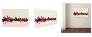 "Trademark Global Michael Tompsett 'Liverpool England Skyline' Canvas Art - 16"" x 24"""