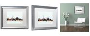 "Trademark Global Michael Tompsett 'Toronto Canada Skyline Blue' Matted Framed Art - 16"" x 20"""