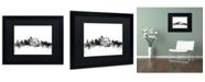 """Trademark Global Michael Tompsett 'Philadelphia PA Skyline B&W' Matted Framed Art - 16"""" x 20"""""""