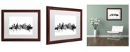 "Trademark Global Michael Tompsett 'Vancouver Canada Skyline B&W' Matted Framed Art - 16"" x 20"""