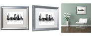 "Trademark Global Marlene Watson 'Tulsa Oklahoma Skyline BG-1' Matted Framed Art - 16"" x 20"""