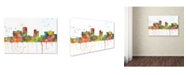 "Trademark Global Marlene Watson 'Little Rock Arkansas Skyline Mclr-1' Canvas Art - 16"" x 24"""