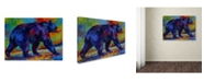 "Trademark Global Marion Rose 'Black Bear 3' Canvas Art - 18"" x 24"""