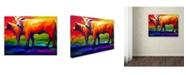 """Trademark Global Marion Rose 'Golden Beauty' Canvas Art - 18"""" x 24"""""""