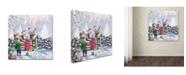 "Trademark Global The Macneil Studio 'Reindeer Pair' Canvas Art - 18"" x 18"""