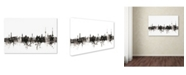 "Trademark Global Michael Tompsett 'Stuttgart Germany Skyline III' Canvas Art - 16"" x 24"""