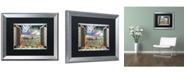 "Trademark Global Leo Kelly 'Window to Paradise III' Matted Framed Art - 16"" x 20"""