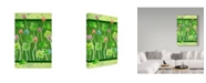 "Trademark Global Valarie Wade 'Clover' Canvas Art - 16"" x 24"""