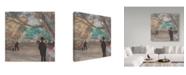 "Trademark Global Edgar Degas 'The Curtain' Canvas Art - 14"" x 14"""