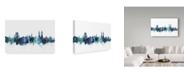 "Trademark Global Michael Tompsett 'Kassel Germany Blue Teal Skyline' Canvas Art - 19"" x 12"""