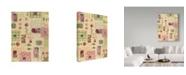"Trademark Global Hope Street Designs 'Pink Scrap' Canvas Art - 14"" x 19"""