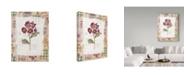 "Trademark Global Hope Street Designs 'Purple Flowers Rustic Frame' Canvas Art - 18"" x 24"""