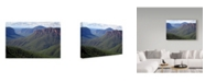 "Trademark Global Incredi 'The Green Valley' Canvas Art - 24"" x 16"""