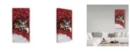 "Trademark Global Jan Panico 'Rudolph Keeping Watch' Canvas Art - 16"" x 32"""