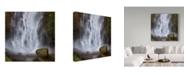 "Trademark Global Jason Matias 'Multmomah Falls Square' Canvas Art - 14"" x 14"""