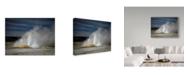"Trademark Global J.D. Mcfarlan 'Geyser Yellowstone' Canvas Art - 19"" x 14"""