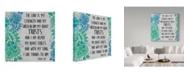 "Trademark Global Jean Plout 'Paisley Bible Verse 2' Canvas Art - 14"" x 14"""