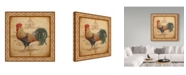 "Trademark Global Jean Plout 'Cockadoodledoo 2' Canvas Art - 18"" x 18"""
