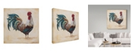 "Trademark Global Jean Plout 'Rooster 4' Canvas Art - 18"" x 18"""