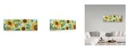 """Trademark Global Jean Plout 'Sunflower Garden 2' Canvas Art - 24"""" x 8"""""""