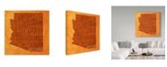 "Trademark Global Red Atlas Designs 'Arizona State Words' Canvas Art - 18"" x 18"""