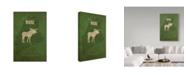 "Trademark Global Red Atlas Designs 'State Animal Maine' Canvas Art - 16"" x 24"""