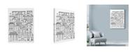 """Trademark Global Laura Miller 'Urban City Line Art' Canvas Art - 24"""" x 32"""""""