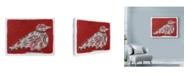 "Trademark Global Maria Pietri Lalor 'Mardi Gras Bird' Canvas Art - 24"" x 18"""