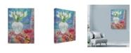 "Trademark Global Lorraine Platt 'Violin With Flowers' Canvas Art - 24"" x 32"""