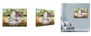 "Trademark Global Mary Irwin 'Victorian Tea In The Garden' Canvas Art - 24"" x 18"""